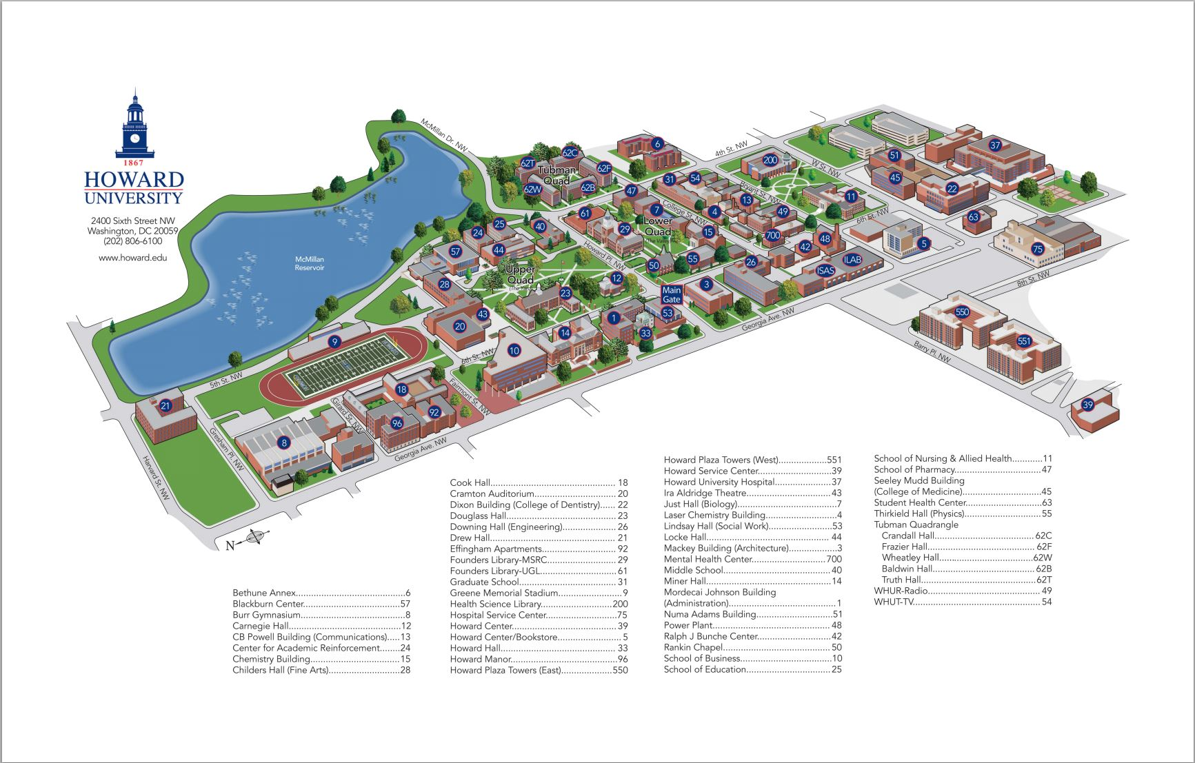directions maps howard university