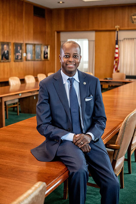 Learn about President Wayne A. I. Frederick